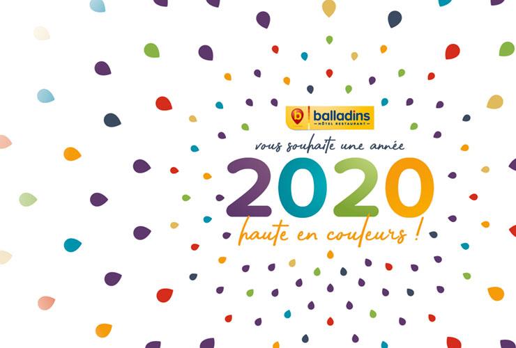 Les hôtels balladins vous souhaitent une excellente année 2020 !