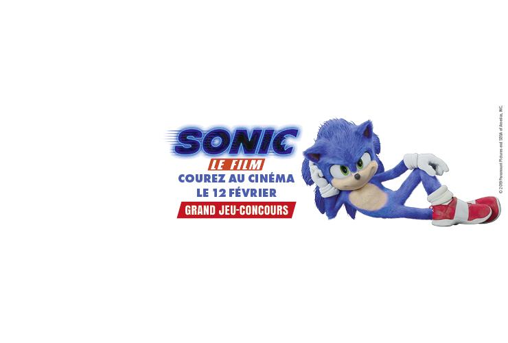 Gagnez des places de cinéma et des goodies Sonic Le Film à l'occasion de sa sortie le 12 février